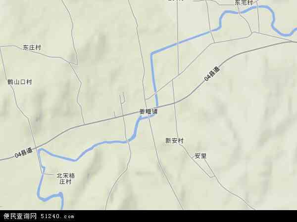中国山东省烟台市莱阳市姜疃镇地图(卫星地图)