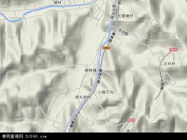中国陕西省延安市宝塔区柳林镇地图(卫星地图)