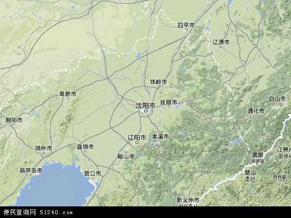 辽宁省地图 - 辽宁省卫星地图
