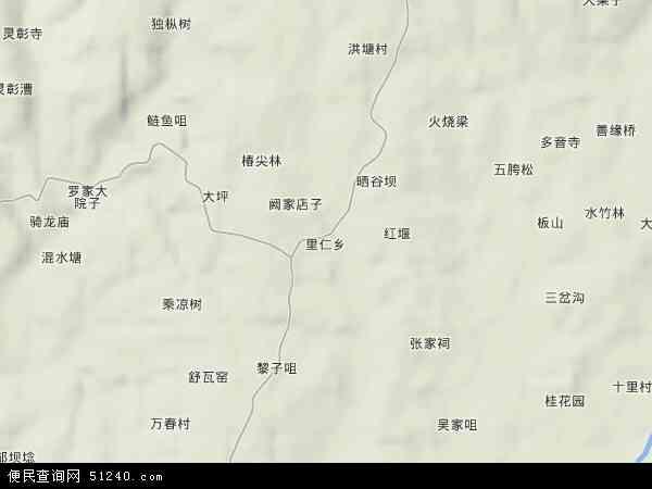 里仁乡地图 - 里仁乡卫星地图 - 里仁乡高清航拍地图