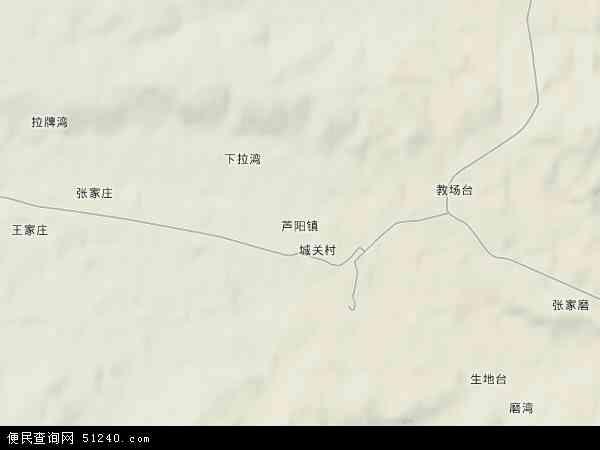 中国甘肃省白银市景泰县芦阳镇地图(卫星地图)