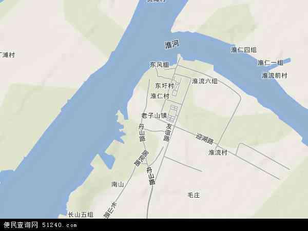 中国江苏省淮安市洪泽县老子山镇地图(卫星地图)