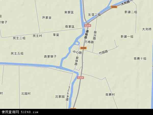刘庄镇地图 - 刘庄镇卫星地图