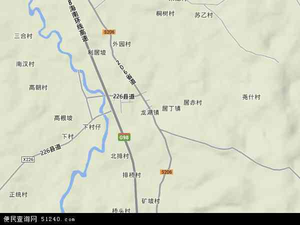中国海南省省直辖县级行政区划定安县龙湖镇地图(卫星地图)