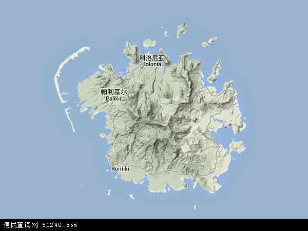 密克罗尼西亚地形图 - 密克罗尼西亚地形图高清版 - 2016年密克罗尼西亚地形图