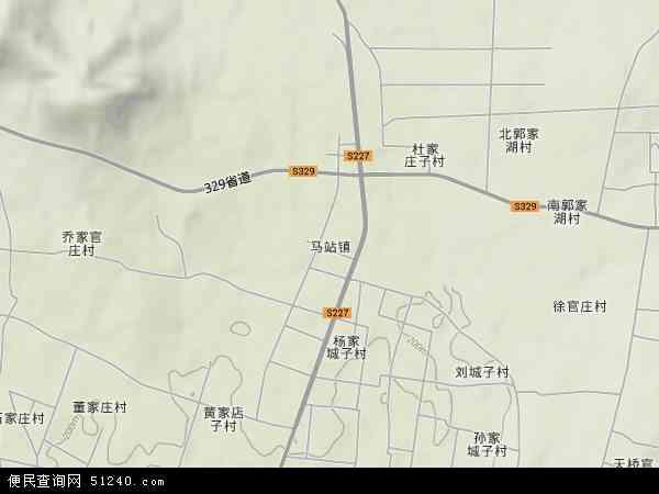 中国山东省临沂市沂水县马站镇地图(卫星地图)