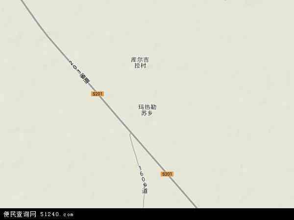 中国新疆维吾尔自治区塔城地区额敏县玛热勒苏乡地图