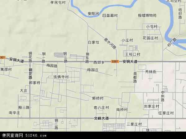 中国河南省安阳市殷都区梅园庄地图(卫星地图)