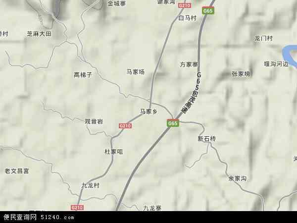 马家乡2018年卫星地图 中国四川省达州市达川区马家乡地图