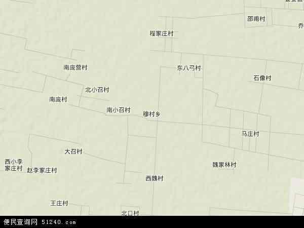 穆村乡地图 - 穆村乡卫星地图 - 穆村乡高清航拍地图