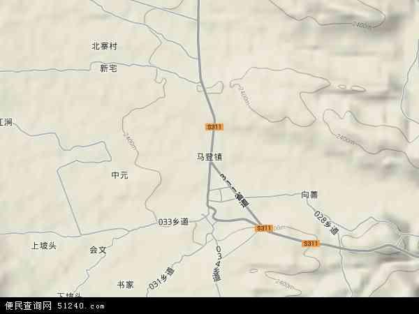 剑川县马登镇地图