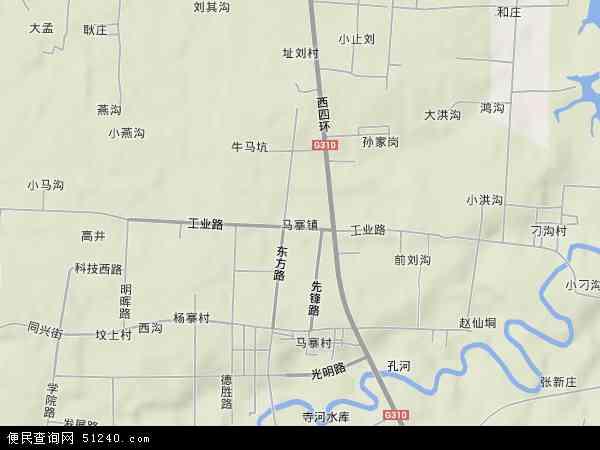 中国河南省郑州市二七区马寨镇地图(卫星地图)图片
