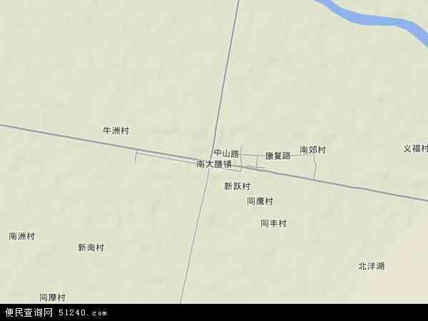 中国湖南省益阳市沅江市南大膳镇地图(卫星地图)
