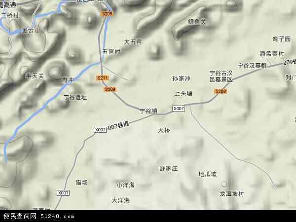 中国贵州省安顺市西秀区宁谷镇地图(卫星地图)
