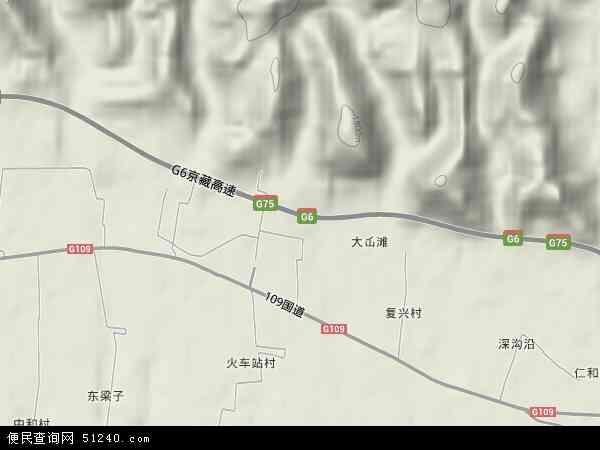 中国甘肃省兰州市红古区平安镇地图(卫星地图)