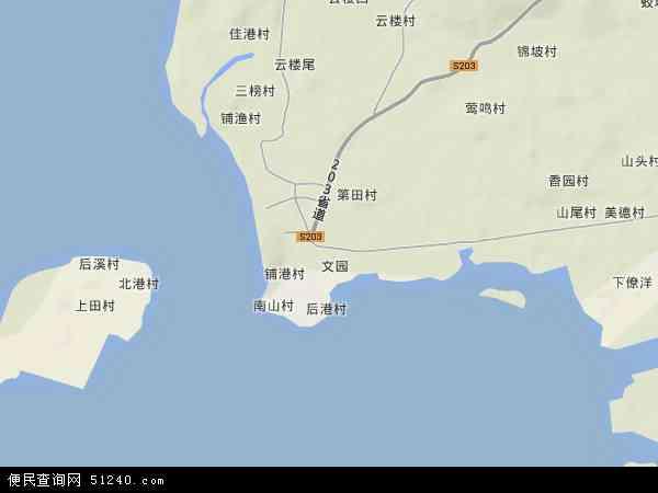 中国海南省省直辖县级行政区划文昌市铺前镇地图(卫星地图)