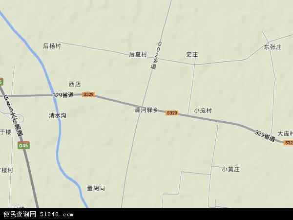 清河驿乡地图 - 清河驿乡卫星地图