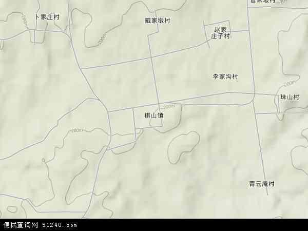 中国山东省日照市莒县棋山镇地图(卫星地图)