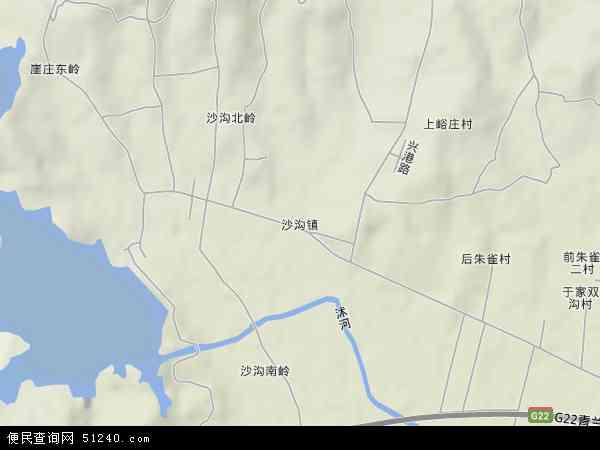 中国山东省临沂市沂水县沙沟镇地图(卫星地图)