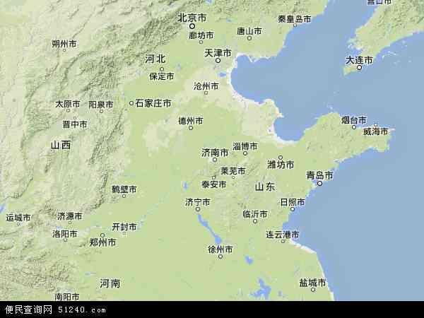 山东省地图 - 山东省卫星地图