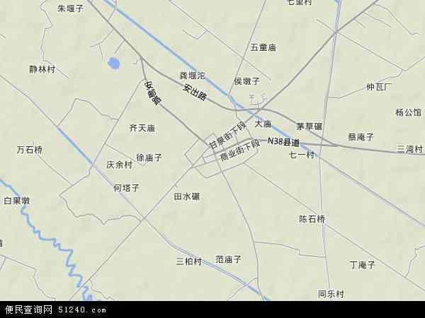 三岔镇地形地图