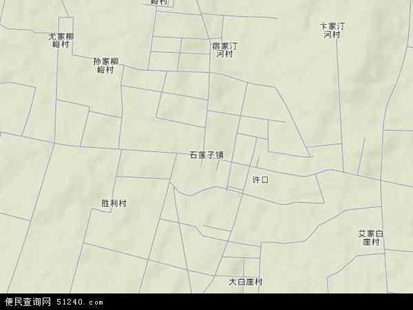 中国山东省临沂市莒南县石莲子镇地图(卫星地图)