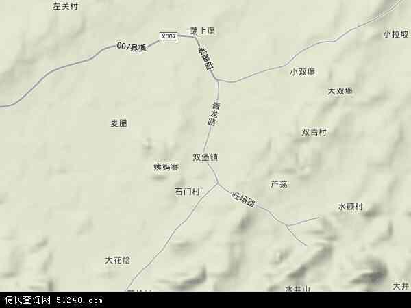 双堡镇地图 - 双堡镇卫星地图
