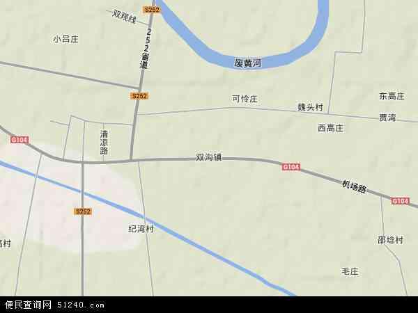 双沟镇地图 - 双沟镇卫星地图