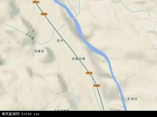 中国陕西省榆林市神木县孙家岔镇地图(卫星地图)