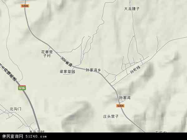 中国辽宁省朝阳市双塔区孙家湾镇地图(卫星地图)