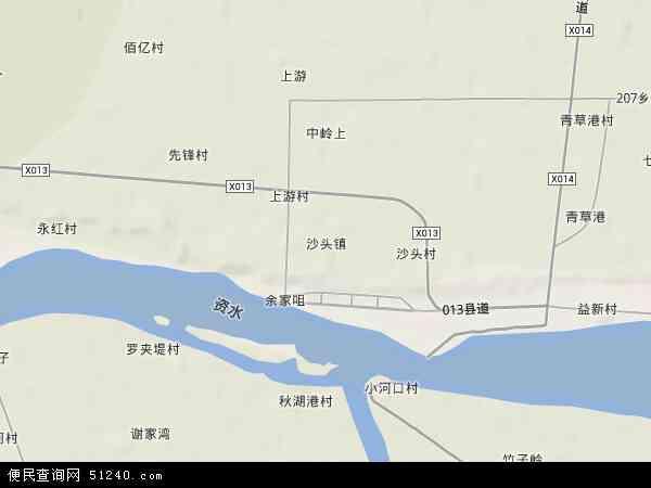 沙头镇高清卫星地图 沙头镇2017年卫星地图 中国湖南省益阳市资阳
