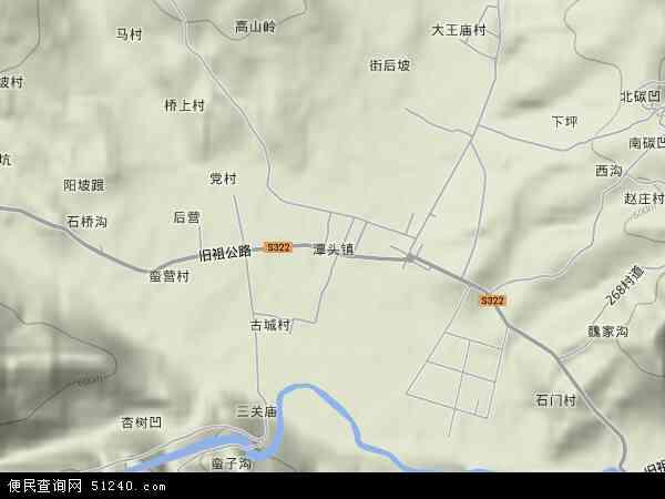 中国河南省洛阳市栾川县潭头镇地图(卫星地图)图片