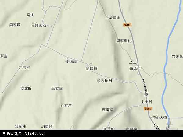 中国陕西省宝鸡市眉县汤峪镇地图(卫星地图)