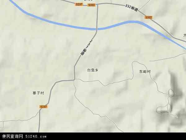 中国河北省保定市顺平县台鱼乡地图(卫星地图)