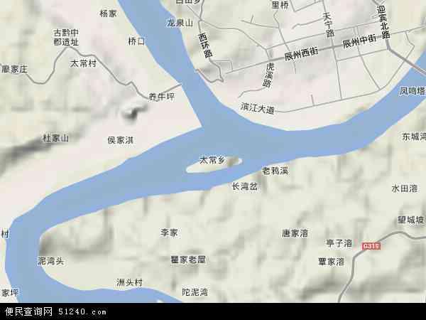 中国湖南省怀化市沅陵县太常乡地图(卫星地图)