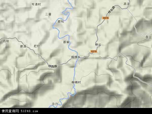 中国广西壮族自治区崇左市宁明县桐棉乡地图