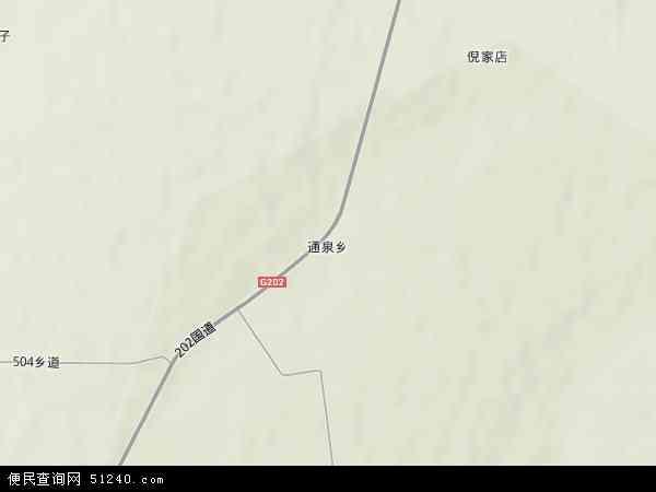 中国黑龙江省绥化市明水县通泉乡地图(卫星地图)
