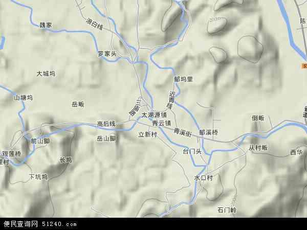 中国浙江省杭州市临安市太湖源镇地图(卫星地图)