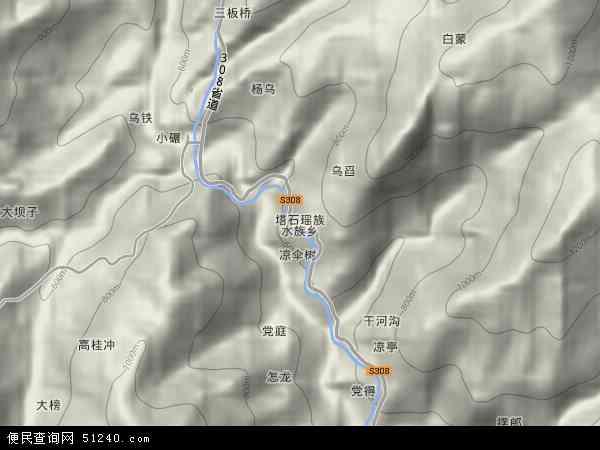 塔石乡地图 - 塔石乡卫星地图