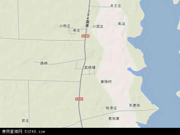 中国安徽省蚌埠市五河县武桥镇地图(卫星地图)