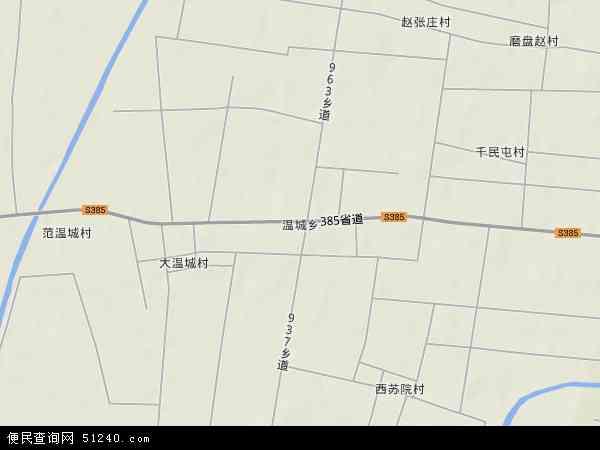 中国河北省衡水市景县温城乡地图(卫星地图)