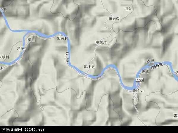中国福建省三明市大田县文江乡地图(卫星地图)
