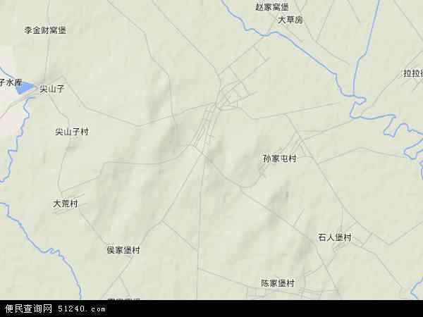 中国辽宁省沈阳市法库县卧牛石乡地图(卫星地图)