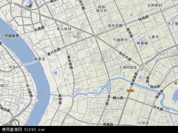 潍坊新村地形地图图片