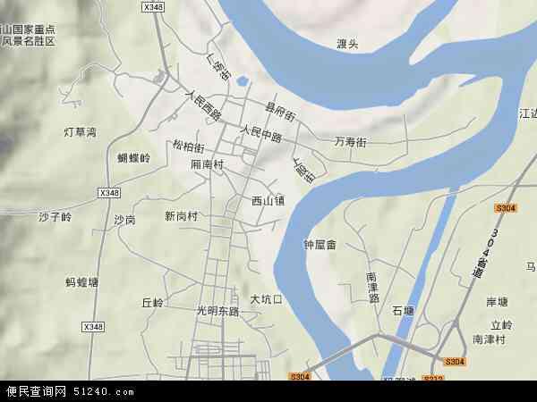 西山镇地图 - 西山镇卫星地图