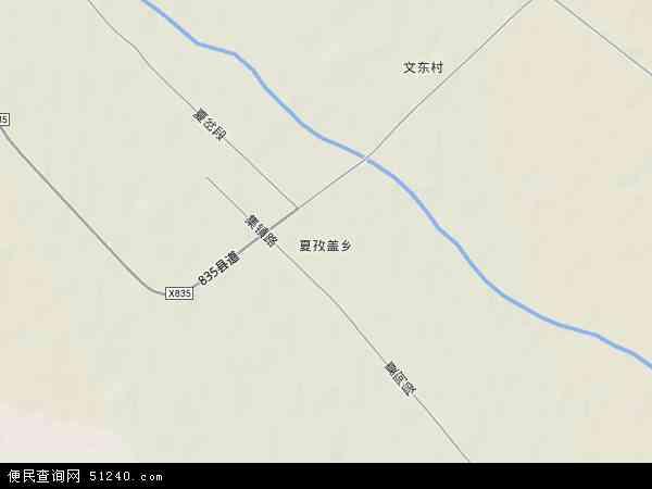 塔城地区和布克赛尔蒙古自治县夏孜盖乡地图