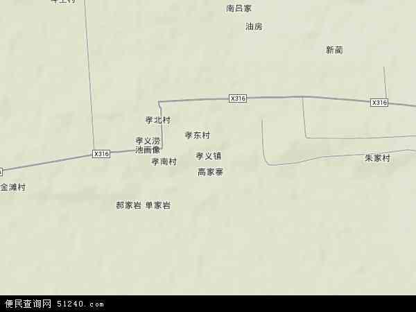 孝义镇地图 - 孝义镇卫星地图