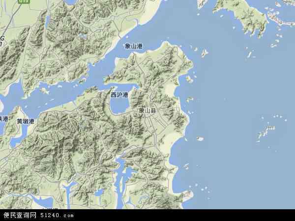 中国浙江省宁波市象山县地图(卫星地图)