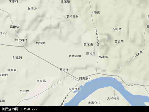 新桥河镇高清卫星地图 新桥河镇2017年卫星地图 中国湖南省益阳市