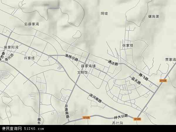 准格尔旗薛家湾镇地图